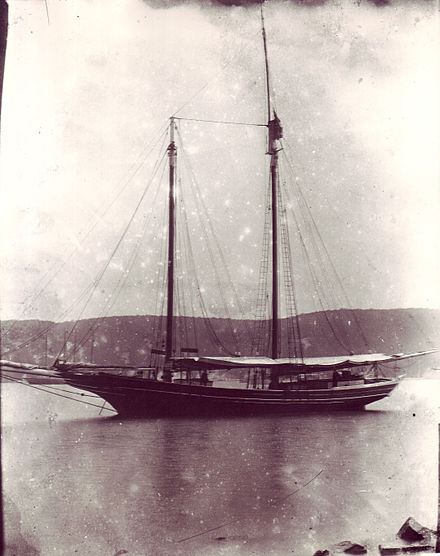 Stephen Taber anchored off Long Island c. 1900 Schooner Stephen Taber, around 1900.jpg