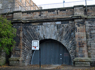 Edinburgh, Leith and Newhaven Railway - The northern entrance to Scotland Street tunnel in 2012