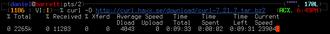 CURL - Image: Screenshot of c URL command line interface
