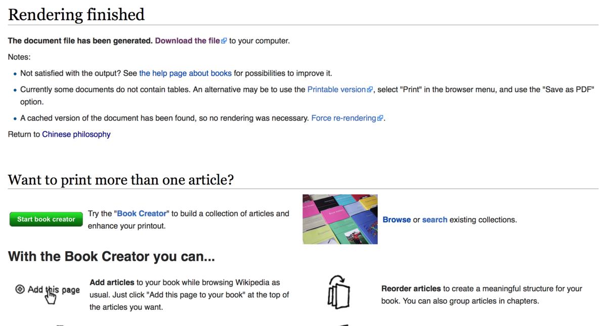 reading web pdf rendering mediawiki