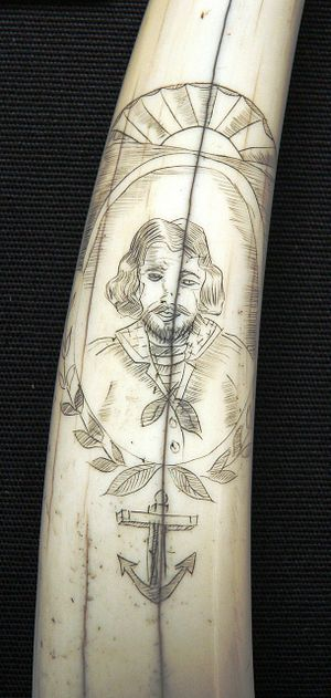 Scrimshaw - Closeup of a sailor