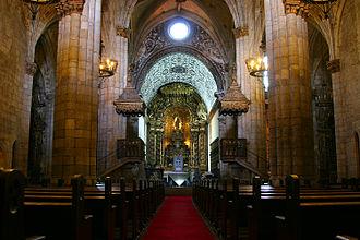 Viseu Cathedral - Interior viewed towards the main chapel.