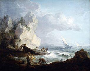 Seashore with Fishermen