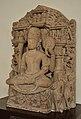 Seated Four-armed Vishnu in Meditation - Medieval Period - Gatashram Narayan Temple - ACCN 00-D-37 - Government Museum - Mathura 2013-02-23 5316.JPG