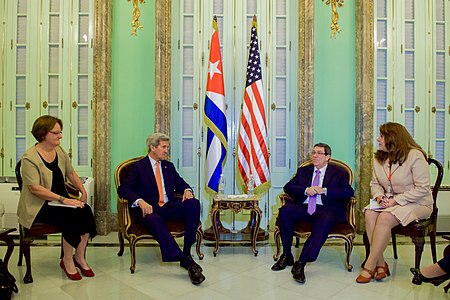 Secretary Kerry Meets With Cuban Foreign Minister Rodriguez in Havana (25841592272).jpg