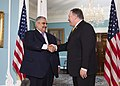 Secretary Pompeo meets with Bahraini Foreign Minister Shaikh Khalid bin Ahmed Al Khalifa (30148164687).jpg
