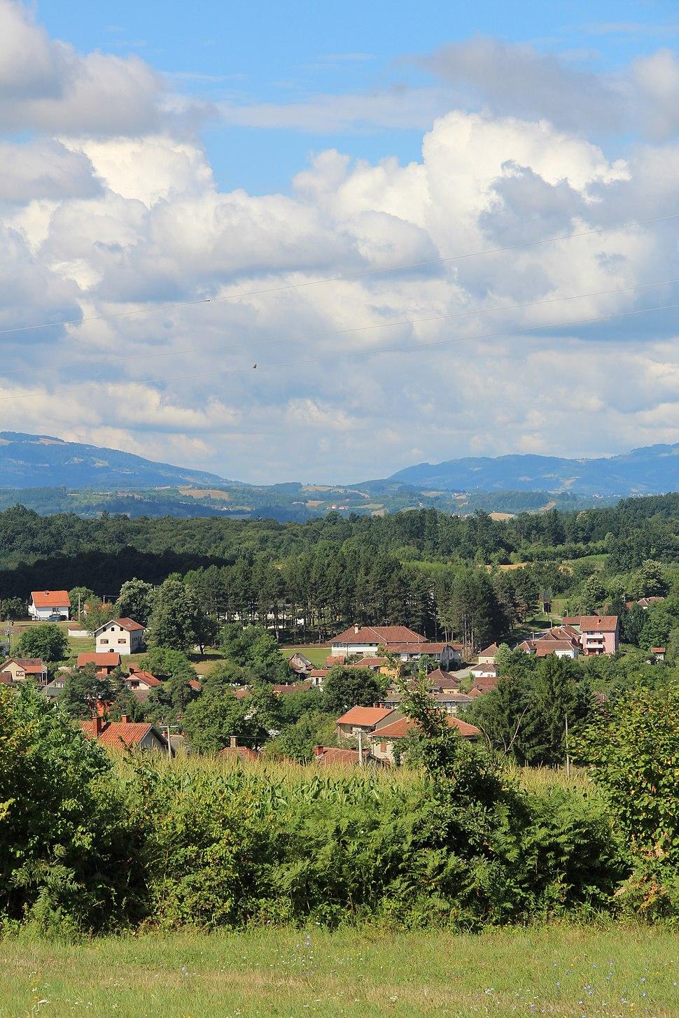 Selo Valjevska Kamenica - opština Valjevo - zapadna Srbija - panorama 4