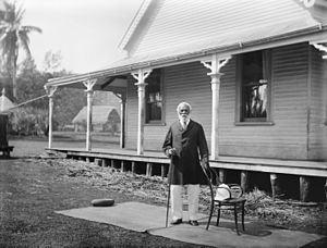 George Tupou I - The King at the Palace at Neiafu, 1884