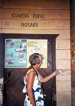 Nosara - Sending mail at Nosara, 1984