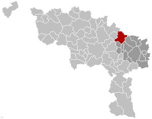 Seneffe - Image: Seneffe Hainaut Belgium Map