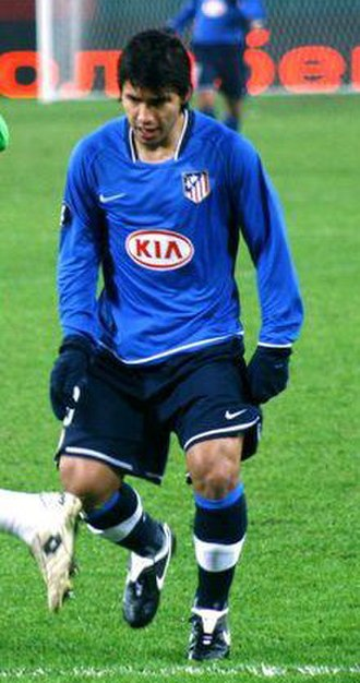 Sergio Agüero - Agüero playing for Atlético Madrid in October 2007.