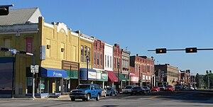 Seward, Nebraska - Downtown Seward: west side of courthouse square