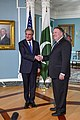 Shah Mehmood Qureshi with Mike Pompeo in Washington - 2018 (45058125351).jpg