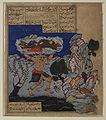 Shahnameh - The Div Akvan throws Rustam into the sea.jpg