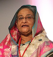Sheikh Hasina, Honourable Prime Minister of Bangladesh (cropped).jpg