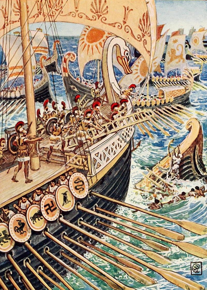نگارهای از نبرد سالامیس ، طراحی شده در قرن 19
