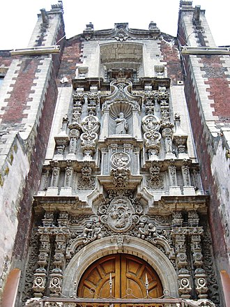 La Santísima Church - Side portal of church
