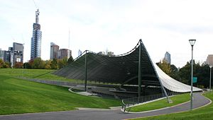 Tensile structure - The Sidney Myer Music Bowl in Kings Domain, Melbourne