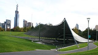 Sidney Myer Music Bowl outdoor performance venue in Melbourne, Australia