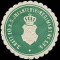 Siegelmarke 3. Battaillon 10. K.S. Infanterie-Regiment No. 134 W0357350.jpg