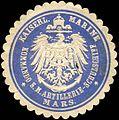 Siegelmarke Kaiserliche Marine - Kommando S. M. Artillerie - Schulschiff Mars W0214282.jpg