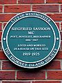 Siegfried Sassoon MC Poet novelist biographer 1886-1967 lived and worked in a house on this site 1919-1925.jpg