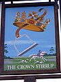 Sign for the Crown Stirrup - geograph.org.uk - 1108537.jpg