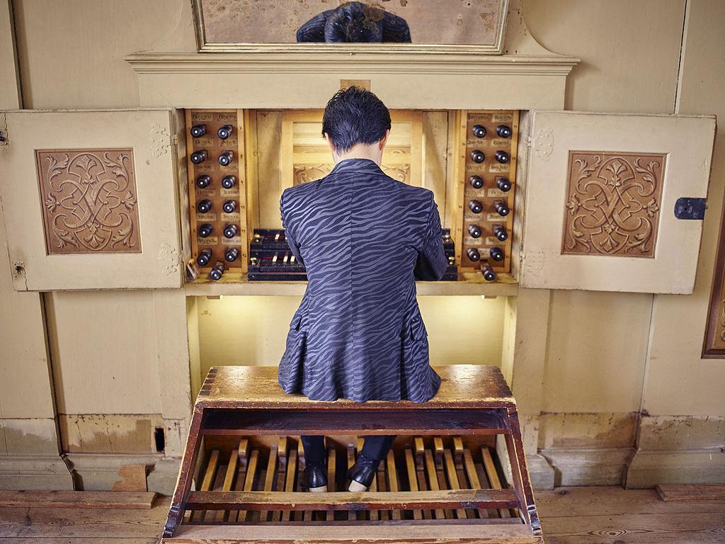 Silbermannorgel in der Georgenkirche Rötha - Organist