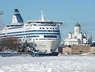 Silja Symphony in the South Harbor of Helsinki
