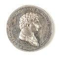 Silvermedalj, Karl XIV Johan, 1814 - Skoklosters slott - 109484.tif