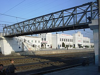 Anju, South Pyongan - Sinanju railway station in the western part of Anju