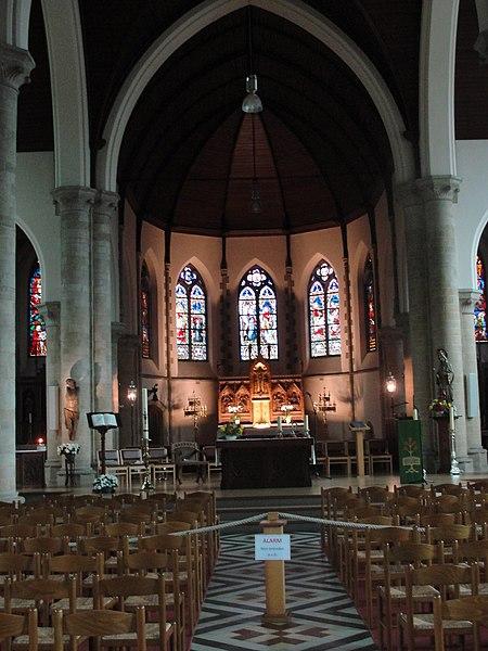 Interieur van de Sint-Martinuskerk te Herzele