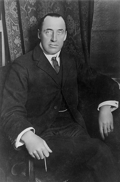 Sir edward carson, bw photo portrait seated