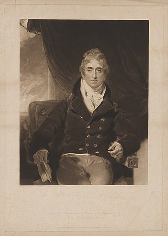 Sir John McMahon, 1st Baronet - 1815 engraving by Charles Turner, after a painting by Sir Thomas Lawrence