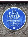 Sir KARL POPPER 1902-1994 Philosopher lived here 1946-1950.jpg