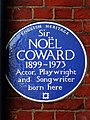 Sir NOËL COWARD 1899-1973 Actor Playwright and Songwriter born here.jpg