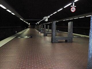 Skarpnäck metro station Stockholm Metro station