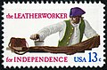 Skilled Hands For Independence Leatherworker 13c 1977 issue U.S. stamp.jpg