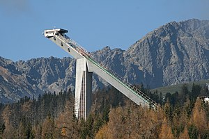 Štrbské Pleso - The ski jumping hill MS 1970