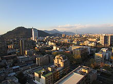 Skyline of Santiago with San Cristóbal hill at the back (Northeast view 01).JPG