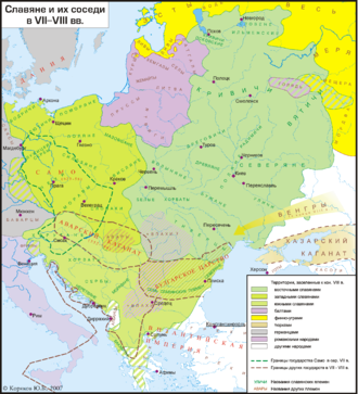 Balts - By the 7-8th century CE, only Eastern Galindians remain in the east within the Slavic territory.