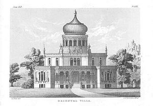 """Longwood (Natchez, Mississippi) - The inspiration for Longwood: Sloan's """"Oriental Villa"""" as it appeared in his 1852 book, The Model Architect"""