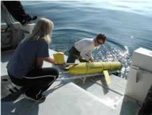 Underwater glider - NOAA personnel launch a Slocum glider off Florida