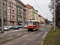 Smyčka Podbaba, Tatra T3SUCS u předjízdné koleje.jpg