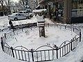 Snowed-over fountain (Camas, Washington).jpg