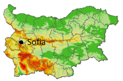 Sofia location within Bulgaria