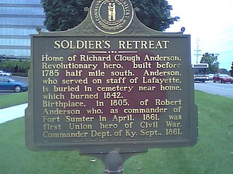 Hurstbourne, Kentucky - Image: Soldiersretreatmarke r