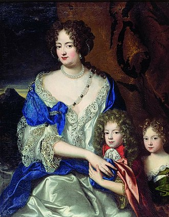George II of Great Britain - George as a young boy with his mother, Sophia Dorothea of Celle, and his sister, Sophia Dorothea of Hanover