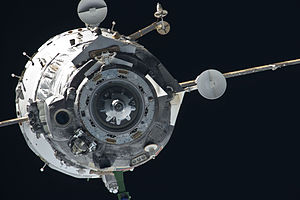 Soyuz TMA-20 - The Soyuz spacecraft departs the Space Station on May 23, 2011.