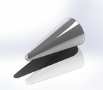 Spherically Blunted Conic Nose Cone Render.png